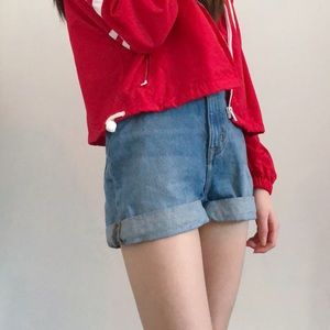 Urban Outfitters Medium Wash High Waisted Shorts